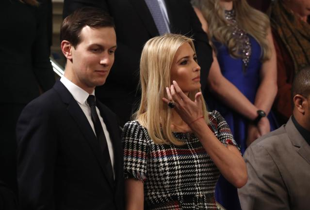 Jared Kushner and Ivanka Trump at President Trump's State of the Union address. (Photo: Jonathan Ernst/Reuters)