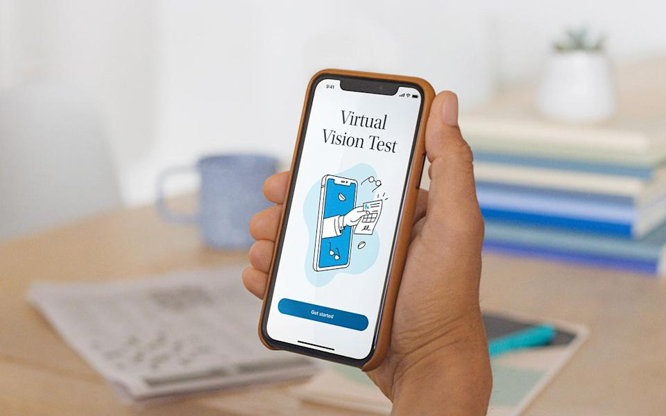 Warby parker virtual vision test