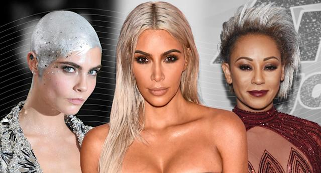 <p>All the best celebrities rocking silvery manes. (Photos: Getty Images) </p>