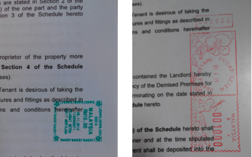 Stamped Tenancy Agreement