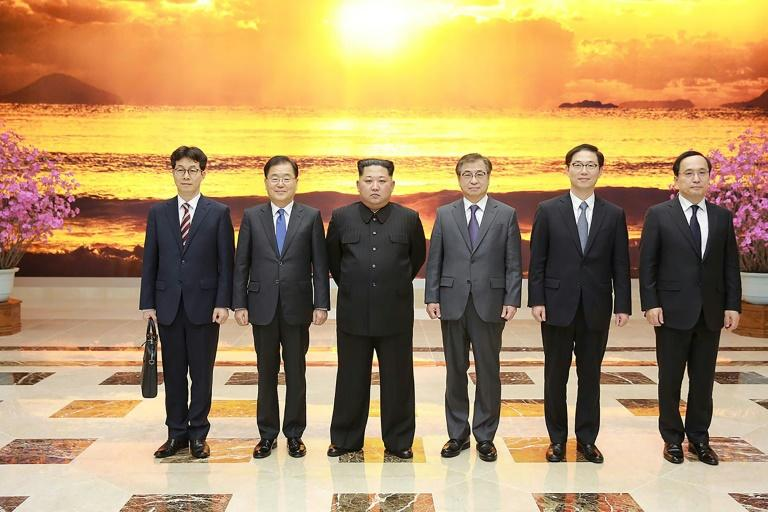 Kim's meeting with the most senior South Koreans to travel to the North in more than a decade is the latest step in an Olympics-driven rapprochement