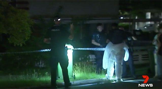 Police investigate the death outside the Southport home. Source: 7 News
