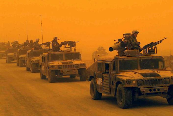 How a sandstorm helped the coalition forces during the 2003 invasion of Iraq