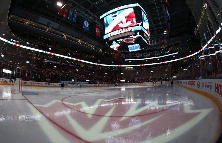 TORONTO, ON - SEPTEMBER 27: Inside the arena bowl as Team Europe takes on Team Canada during Game One of the World Cup of Hockey final series at the Air Canada Centre on September 27, 2016 in Toronto, Ontario, Canada. (Photo by Andre Ringuette/World Cup of Hockey via Getty Images)