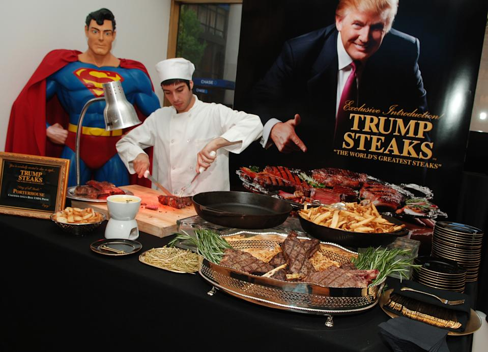 Lanzamiento de Trump Steaks, la marca de filetes de Trump. (Photo by Stephen Lovekin/WireImage for Hill & Knowlton)