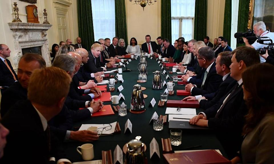 The cabinet, not following the three Cs, meeting in Downing Street last week.
