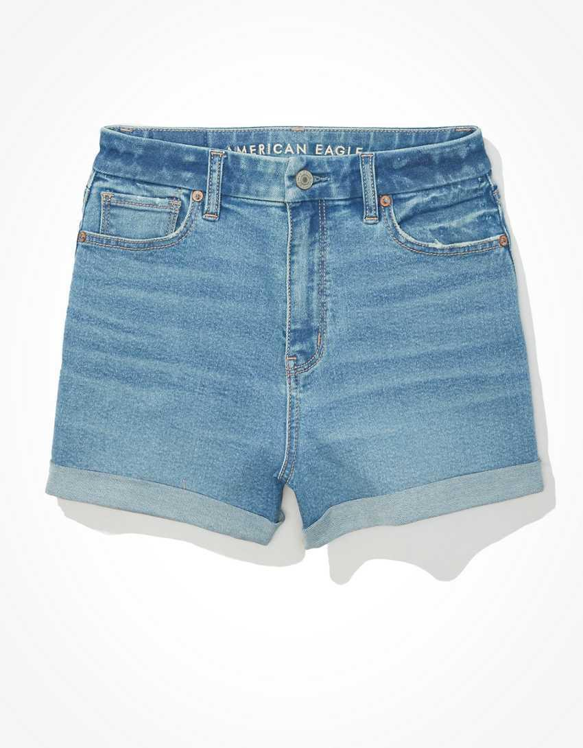 """<h2>Mom Shorts </h2><br>""""I really like curvy mom shorts from American Eagle paired with Doc Martens and a cropped short sleeve button. The shorts are long enough that I don't feel aggressively femme, and pairing them with bigger shoes/a masculine shirt really feels right."""" – <em>Hannah Rimm, Money Diaries Associate Editor</em><br><br><em>Shop <strong><a href=""""https://www.ae.com"""" rel=""""nofollow noopener"""" target=""""_blank"""" data-ylk=""""slk:American Eagle"""" class=""""link rapid-noclick-resp"""">American Eagle</a></strong></em><br><br><strong>American Eagle</strong> AE Stretch Curvy Denim Mom Shorts, $, available at <a href=""""https://go.skimresources.com/?id=30283X879131&url=https%3A%2F%2Fwww.ae.com%2Fus%2Fen%2Fp%2Fwomen%2Fhigh-waisted-shorts%2Fcurvy-high-waisted-shorts%2Fae-stretch-curvy-denim-mom-shorts%2F0337_6616_857%2F"""" rel=""""nofollow noopener"""" target=""""_blank"""" data-ylk=""""slk:American Eagle"""" class=""""link rapid-noclick-resp"""">American Eagle</a>"""