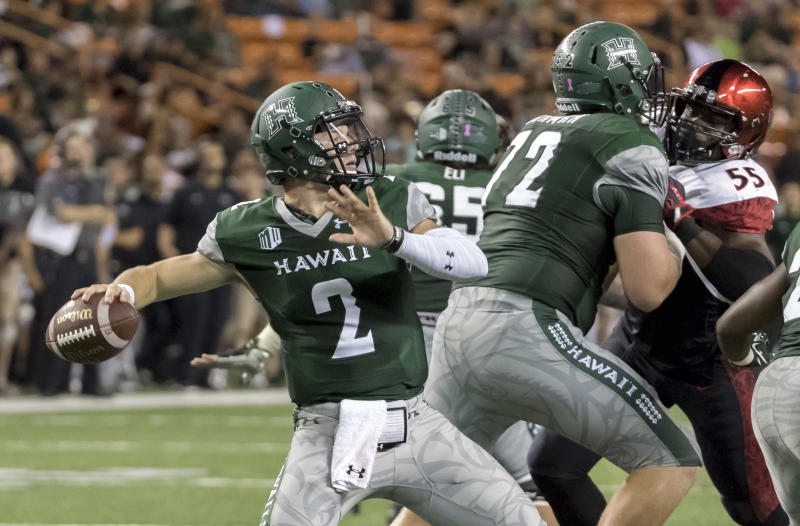 Hawai'i QB Dru Brown to transfer to Oklahoma State, eligible for '18