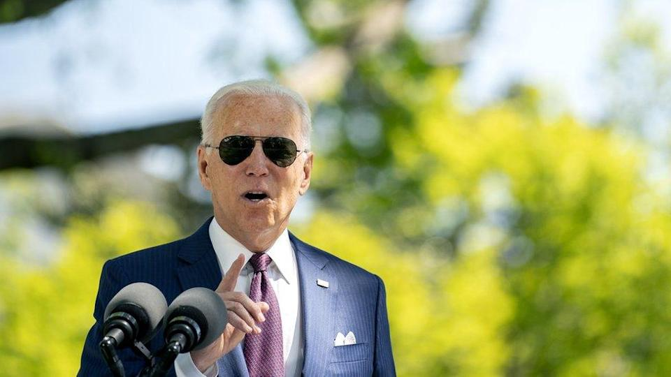 Joe Biden delivers remarks at the White House