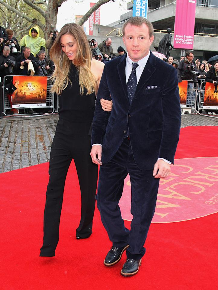 LONDON, ENGLAND - APRIL 25:  Guy Ritchie and Jacqui Ainsley attend the UK Premiere of 'African Cats' in aid of Tusk at BFI Southbank on April 25, 2012 in London, England.  (Photo by Chris Jackson - WPA Pool /Getty Images)