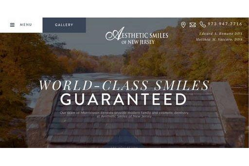 Morristown Cosmetic Dentists Launch New Responsive Website with Unique Design