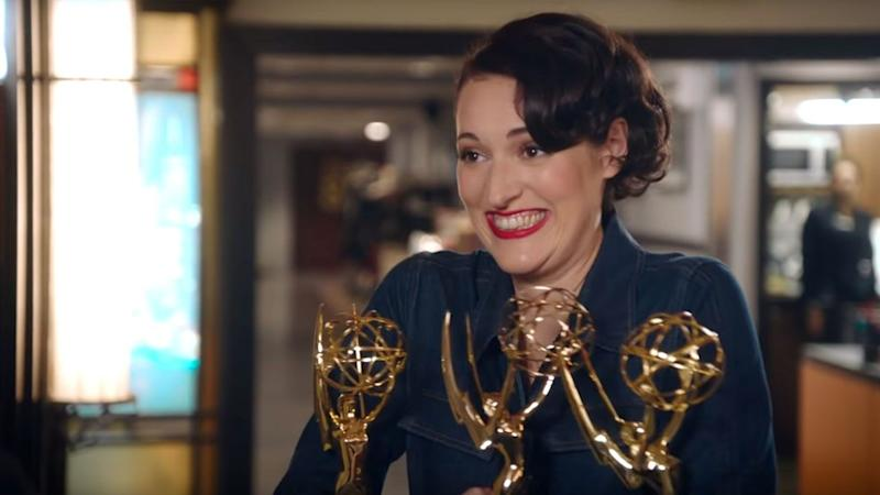 Phoebe Waller-Bridge Just Can't Part With Her Emmys While Rehearsing for 'Saturday Night Live'