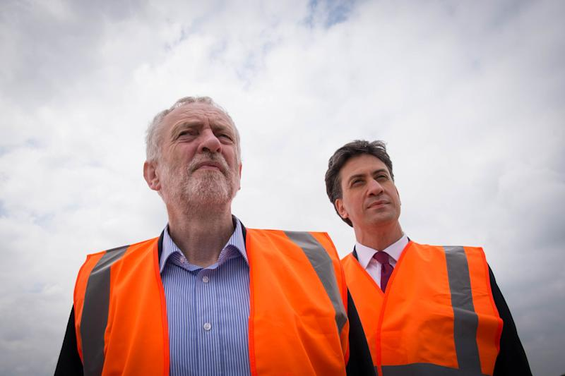 Jeremy Corbyn and Ed Miliband, who scrapped the party'selectoral college for leadership elections. (PA Archive/PA Images)