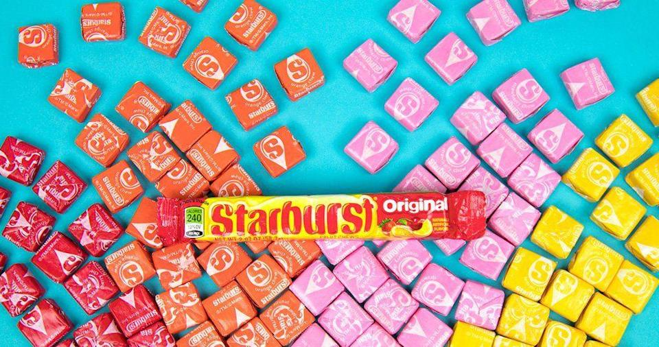 """<p>The individually wrapped fruit chews that we know as <a href=""""/food-news/a49291/evertyhing-you-need-to-know-before-eating-starburst/"""" data-ylk=""""slk:Starburst"""" class=""""link rapid-noclick-resp"""">Starburst</a> were originally called Opal Fruits.</p>"""