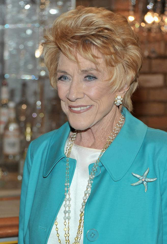 "LOS ANGELES, CA - MARCH 24:  Actress Jeanne Cooper attends CBS' ""Young and the Restless"" 38th Anniversary cake cutting on March 24, 2011 in Los Angeles, California.  (Photo by Alberto E. Rodriguez/Getty Images)"