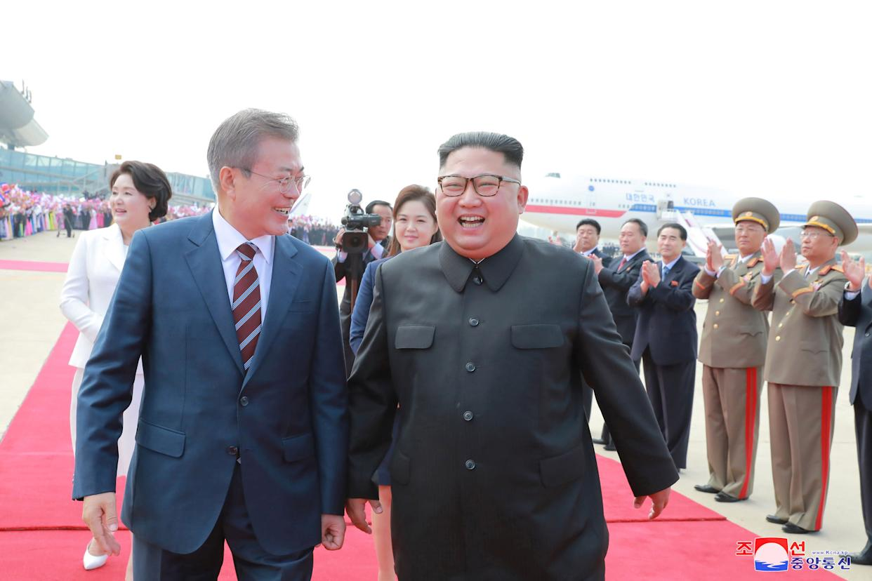 South Korean President Moon Jae-in and North Korean leader Kim Jong Un said they had discussed steps to rid the peninsula of nuclear weapons, but experts remain skeptical. (Photo: Korean Central News Agency via Reuters)