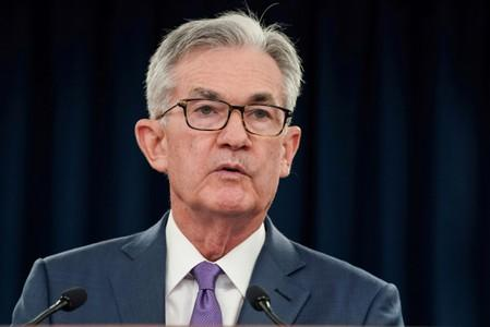 FILE PHOTO: Federal Reserve Chair Jerome Powell holds a news conference in Washington