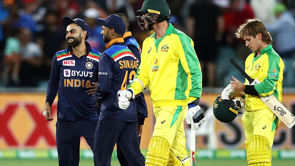 Virat Kohli, pictured here after helping India win the third ODI against Australia.