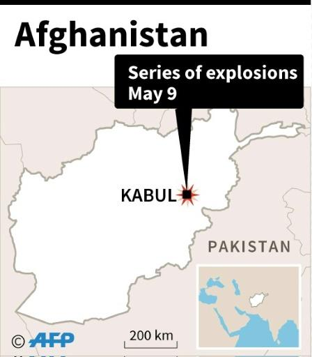 Map of Afghanistan locating Kabul