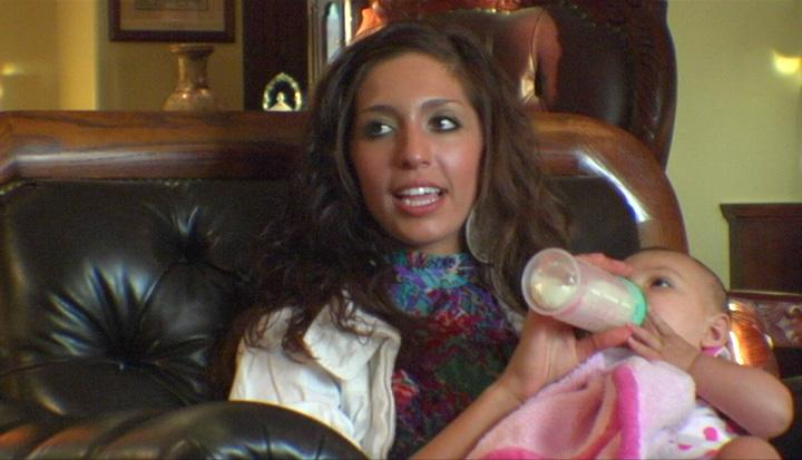 <b>Farrah Abraham: Then</b><br><br>As if being a new mother in her teens wasn't enough of a challenge, aspiring model Farrah Abraham was about to face a major tragedy right after she gave birth to daughter Sophia Laurent. The baby's father, Derek Underwood, was killed in a car accident right before the birth. Abraham's daughter was eventually forced to have a paternity test to prove to Derek's family that he was the biological dad. About a year later, Abraham's mother, Debra Danielson, was charged with assault for allegedly hitting and choking her. Abraham was tasked with raising a child on her own, coming to terms with the loss of Underwood, and trying to mend familial relationships.