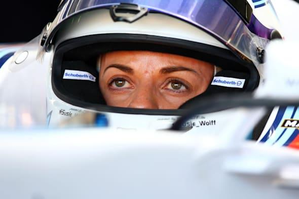 Hockenheim, Germany. 18th July, 2014. British Formula One driver Susie Wolff from team Williams sits in her car before the first