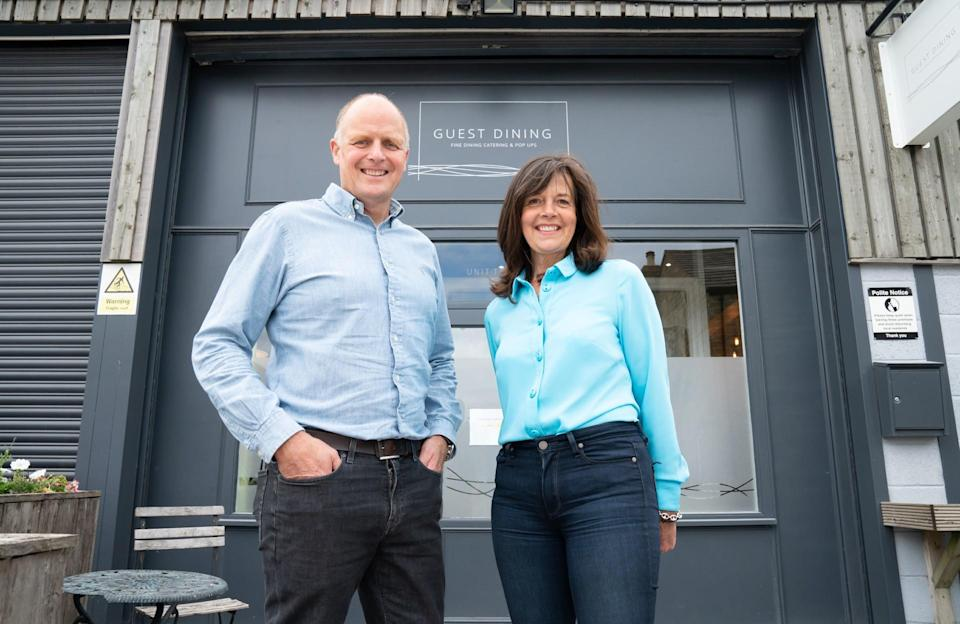 John Brownhill and Amanda Guest, co-founders of Food4Heroes