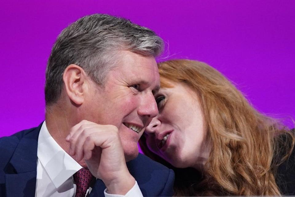 Labour Party leader Sir Keir Starmer and deputy leader Angela Rayner at the conference in Brighton (Stefan Rousseau/PA) (PA Wire)