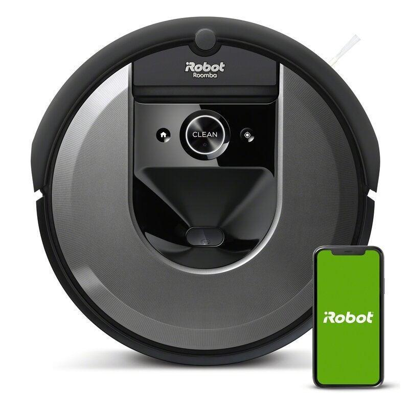 """<br><br><strong>iRobot</strong> Roomba® i7 (7150) Wi-Fi® Connected Robot Vacuum, $, available at <a href=""""https://go.skimresources.com/?id=30283X879131&url=https%3A%2F%2Fwww.wayfair.com%2Fappliances%2Fpdp%2Firobot-roomba-i7-7150-wi-fi-connected-robot-vacuum-w003150904.html"""" rel=""""nofollow noopener"""" target=""""_blank"""" data-ylk=""""slk:Wayfair"""" class=""""link rapid-noclick-resp"""">Wayfair</a>"""