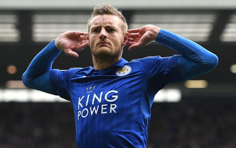 Jamie Vardy celebrates scoring the only goal of the game at the Hawthorns - Getty Images Europe