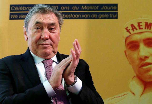 Former Belgian cycling champion Eddy Merckx attends the presentation of the Grand Depart of the 2019 Tour de France cycling race in Brussels, Belgium, January 16, 2018. REUTERS/Francois Lenoir