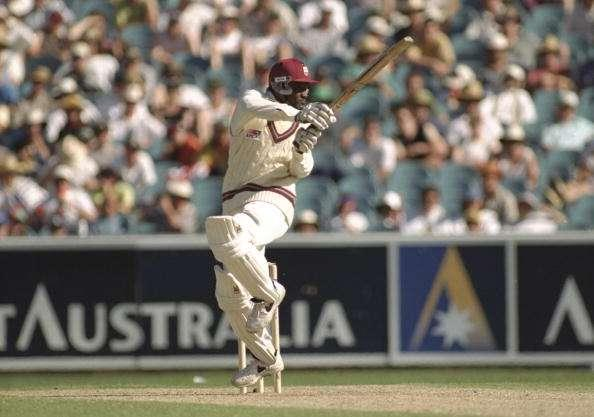 27 Dec 1996: Carl Hooper of the West Indies in action batting during the third test between Australia and West Indies at the MCG in Melbourne, Australia. Mandatory Credit: Shaun Botterill/Allsport