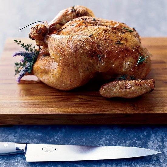 """<p>Adapted from Chef <a href=""""https://www.foodandwine.com/contributors/mohammad-islam"""" target=""""_blank"""">Mohammad Islam</a>'s roast chicken at Hollywood's <a href=""""https://www.foodandwine.com/blogs/2007/2/16/At-Bar-Marmont"""" target=""""_blank"""">Chateau Marmont</a>, this recipe is juicy, flavorful, and a staple any home cook needs in his or her repertoire.</p> <p> <a href=""""http://www.foodandwine.com/recipes/roasted-chicken-with-herb-jus"""">Go to Recipe</a></p>"""