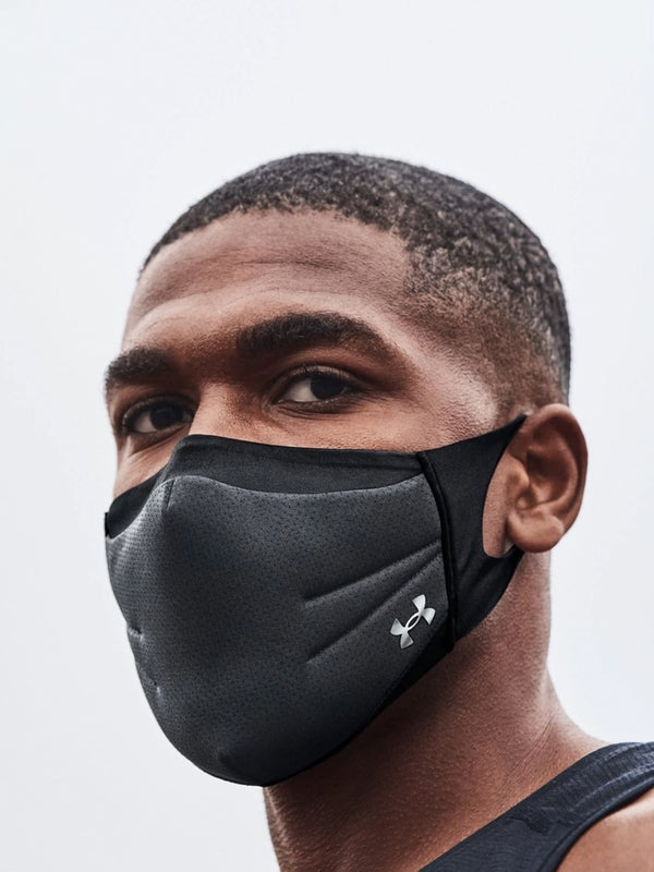 """<p><strong>Under Armour</strong></p><p>underarmour.com</p><p><strong>$30.00</strong></p><p><a href=""""https://go.redirectingat.com?id=74968X1596630&url=https%3A%2F%2Fwww.underarmour.com%2Fen-us%2Fp%2Fua-sportsmask%2F1368010.html&sref=https%3A%2F%2Fwww.prevention.com%2Ffitness%2Fworkout-clothes-gear%2Fg35586004%2Fbest-face-masks-for-working-out%2F"""" rel=""""nofollow noopener"""" target=""""_blank"""" data-ylk=""""slk:Shop Now"""" class=""""link rapid-noclick-resp"""">Shop Now</a></p><p>After months of testing the UA Sportsmask for ourselves, we're comfortable recommending this comfy, breathable mask to just about anyone. A roomy, structured interior allows for easy communication, while a <strong>water-resistant shell, tons of filtration, built-in UV protection, and cooling fabric</strong> mean that even the toughest workouts won't compromise your mask. It's worth the investment.</p>"""