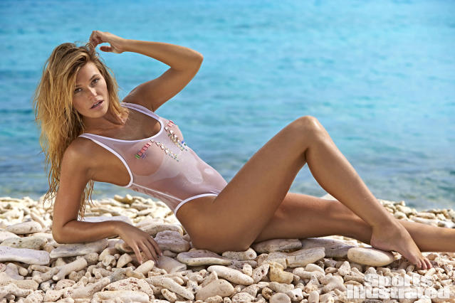 "<p>Samantha Hoopes was photographed by Ben Watts in Curacao. Swimsuit by <a href=""http://www.shophausofpinklemonaid.com"" rel=""nofollow noopener"" target=""_blank"" data-ylk=""slk:HAUS OF PINKLEMONAID."" class=""link rapid-noclick-resp"">HAUS OF PINKLEMONAID.</a></p>"
