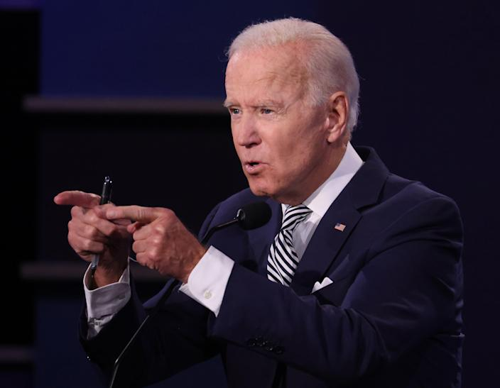 Joe Biden said moving to greener economy could provide millions of jobs in America (Getty)