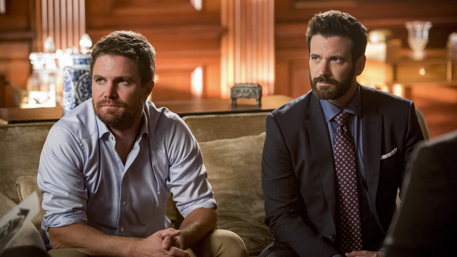 Arrow: Stephen Amell and Colin Donnell