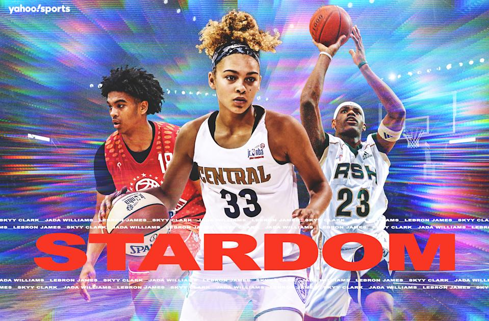 Social media and technology have only bolstered this phenomenon of the famous basketball recruit. (Amber Matsumoto/Yahoo Sports)