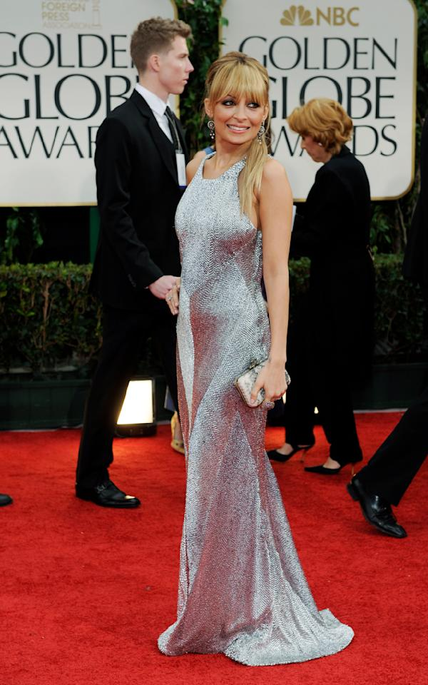 Nicole Richie the 69th Annual Golden Globe Awards Sunday, Jan. 15, 2012, in Los Angeles. (AP Photo/Chris Pizzello)