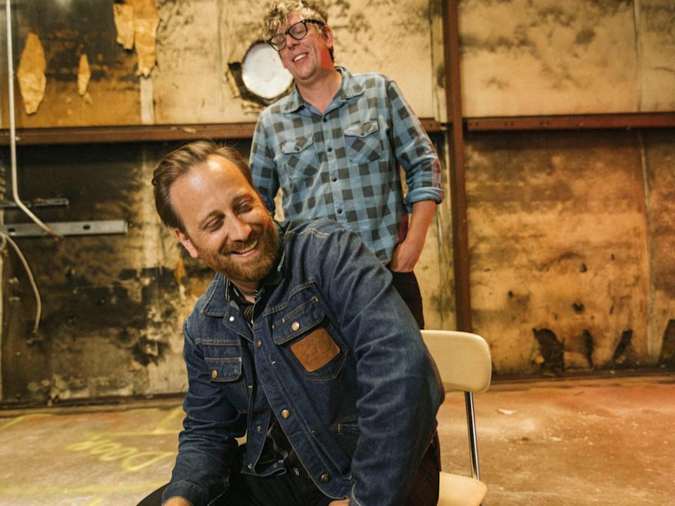 <p>Patrick Carney (right) – 'There's days when Dan is checked out and I'll step up, and the opposite'</p> (Joshua Black Wilkins)