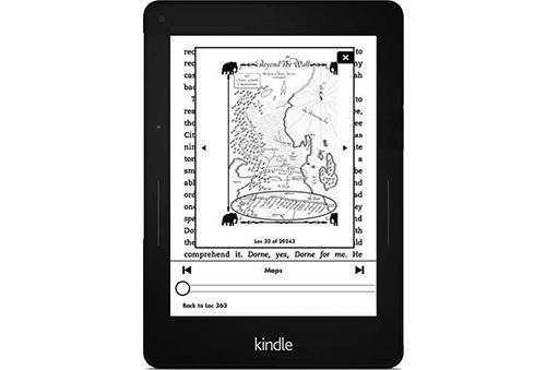 Page Flip feature on an Amazon Voyage