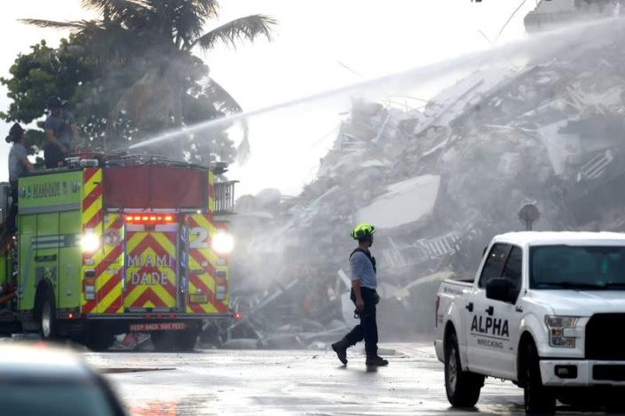 Residential building collapse in Surfside