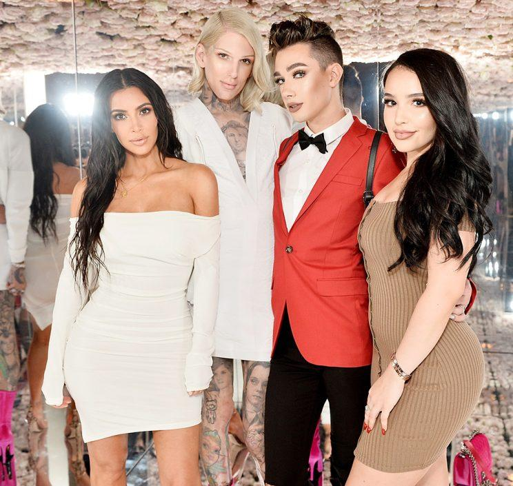 Kim Kardashian West, Jeffree Star; James Charles and Amanda Ensing celebrates The Launch Of KKW Beauty on June 20, 2017 in Los Angeles, California