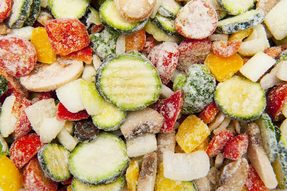 Fruit and vegetables freeze really well. (Getty Images)