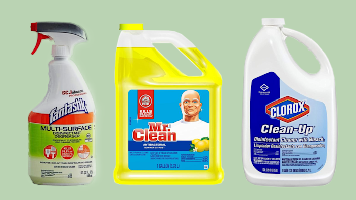 Household disinfectants are available at Amazon: Shop Fantastik, Mr. Clean, Clorox and more. (Photo: Amazon)