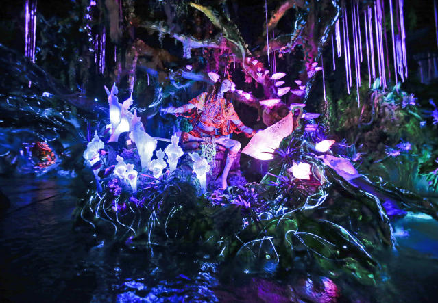 Na'vi River Journey ride at Pandora-World of Avatar land attraction in Disney's Animal Kingdom theme park at Walt Disney World (AP Photo/John Raoux)