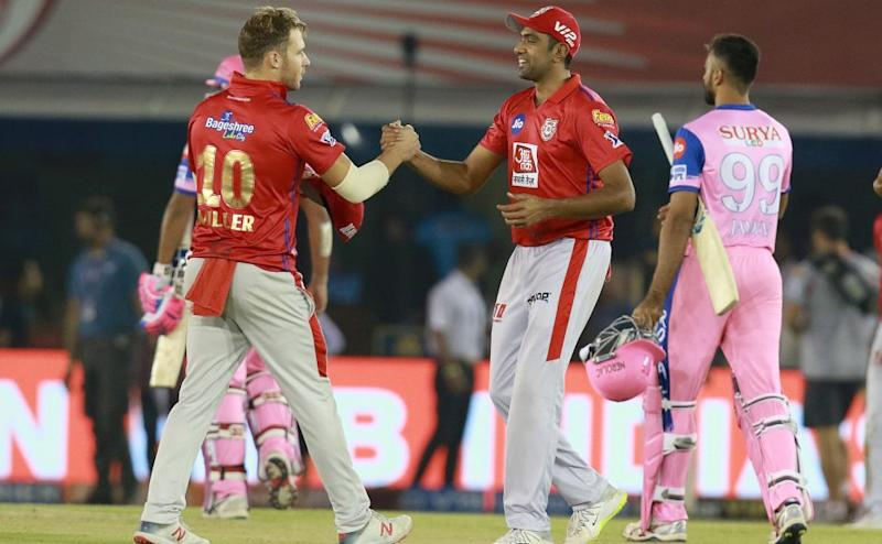 Ravichandran Ashwin captain of KXIP after win the match during match 32 of the Vivo Indian Premier League Season 12, 2019 between the Kings XI Punjab and the Rajasthan Royals held at the IS Bindra Stadium, Mohali on the 16th April 2019 Photo by: Rahul Gulati /SPORTZPICS for BCCI