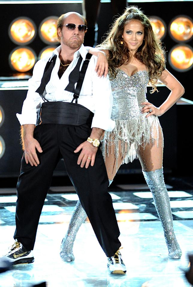"""<a href=""""http://movies.yahoo.com/movie/contributor/1800015725"""">Tom Cruise</a> and <a href=""""http://movies.yahoo.com/movie/contributor/1800023864"""">Jennifer Lopez</a> perform onstage at the 2010 MTV Movie Awards at Gibson Amphitheatre on June 6, 2010 in Universal City, California."""