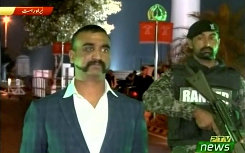 Wing Commander Abhinandan Varthaman at the border - REUTERS