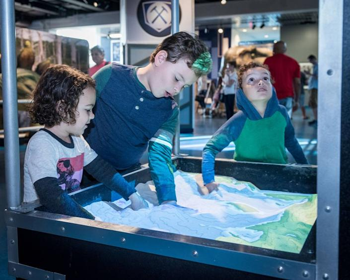 Students explore at the Museum of Discovery and Science in Fort Lauderdale.