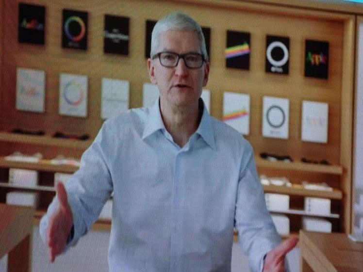 Apple CEO Tim Cook speaking remotely at the VivaTech 2021 conference in Paris on 16 June, 2021  (VivaTech)